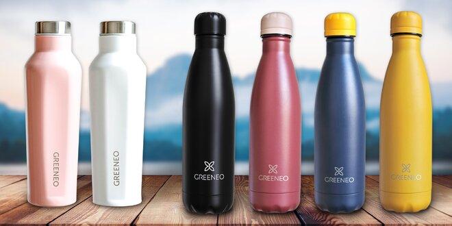Nerezové láhve Greeneo v různých barvách