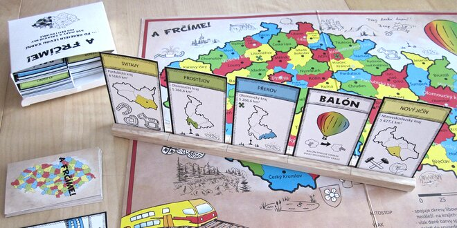 Zeměpisná stolní hra A frčíme! pro děti i dospělé