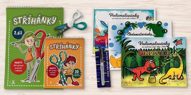 Balíčky pro děti: vodomalovánky, stříhánky i puzzle