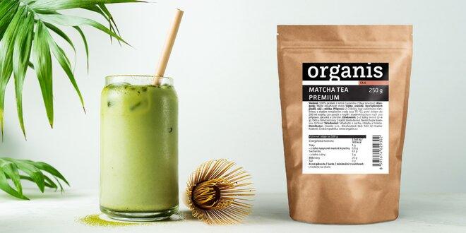 Balení 250 g čaje matcha od značky Organis