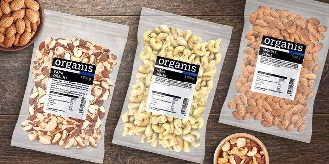 1 kg přírodních mandlí nebo kešu či para ořechů