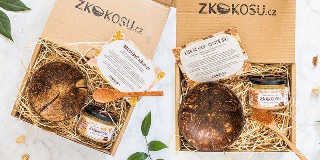 Dárkové sady: ořechový krém, kokosová miska a lžíce