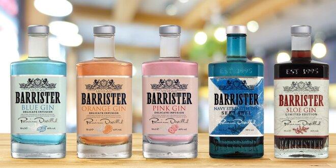 Britské giny Barrister: 5 různých příchutí