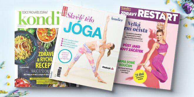 Speciály časopisu Kondice: vaření i jóga s DVD