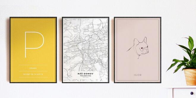 Vytvořte si vlastní plakát: města, památky, mazlíčci
