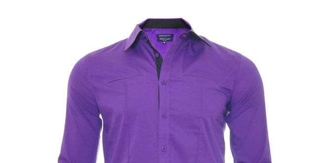 Fialová košile Slim Fit