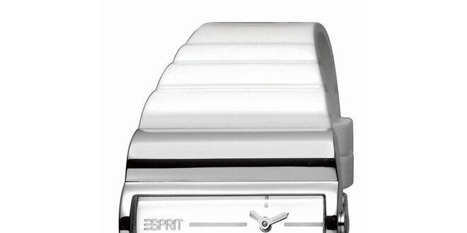 Dámské bílo-stříbrné hodinky Esprit