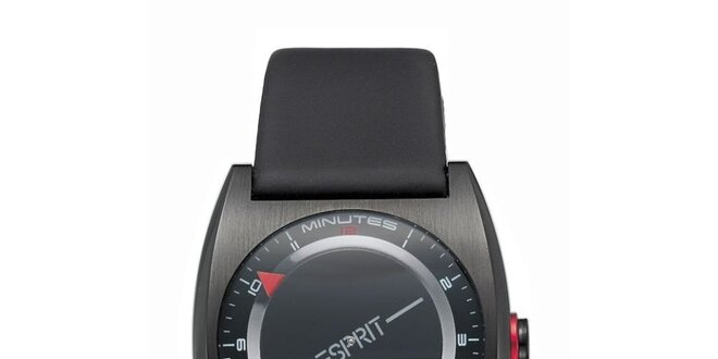 Dámské černé futuristické hodinky Esprit