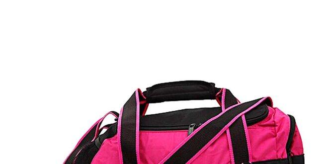 a35d48defe8 Dámská černo-růžová sportovní taška Adidas