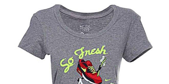 Dámské šedivé tričko Nike