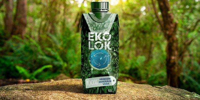 Přírodní minerální voda Ekolok v recyklovatelném obalu