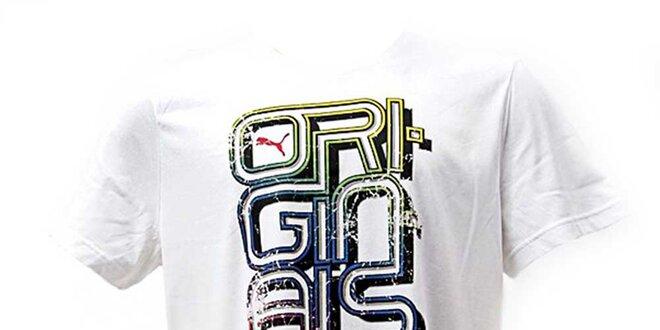 Pánské bílé tričko s potiskem Puma  ceb5d2e904