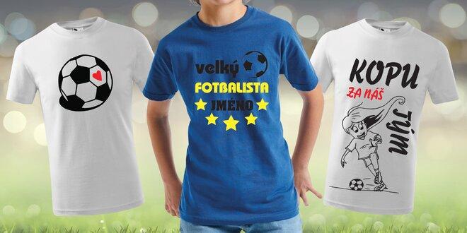 Dětská trička s fotbalovými motivy: nápisy i obrázky