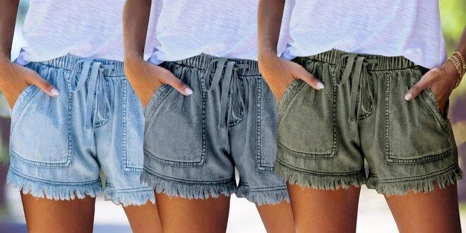 Slušivé džínové kraťasy s hlubokými kapsami, 3 barvy