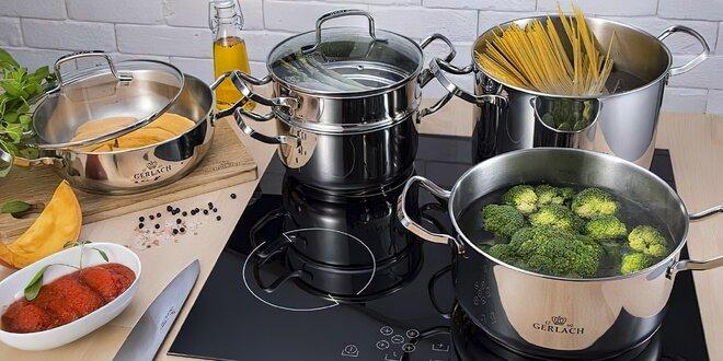 Sady nádobí Gerlach: keramické pánve, hrnce i příbory