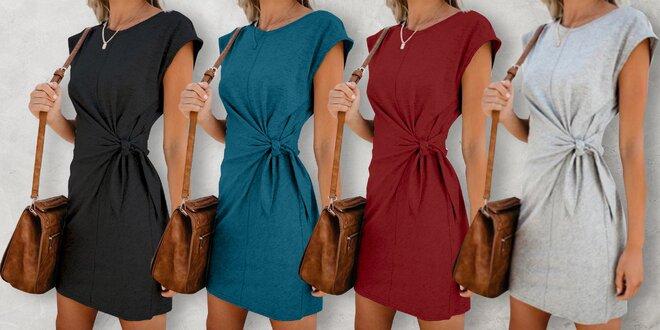 Slušivé letní šaty s vázáním v pase, 5 barev