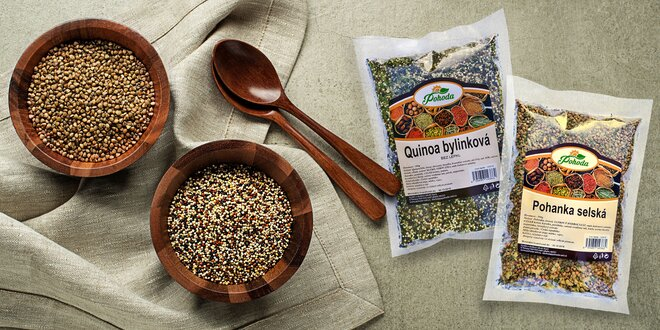 Rychle a zdravě: ochucená quinoa, kroupy a pohanka