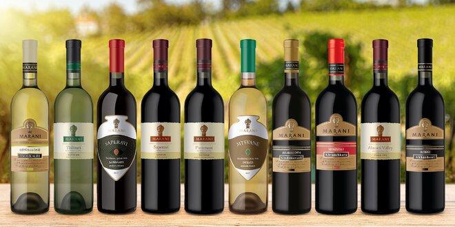 Sety vín z Gruzie: 5 nebo 6 láhví vč. kvevri