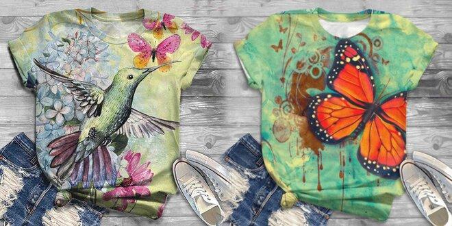Dámské tričko s originálním barevným potiskem