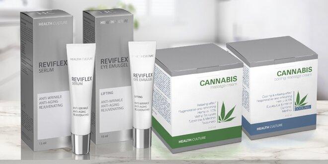 Oční gel a sérum Reviflex i masážní krémy Cannabis