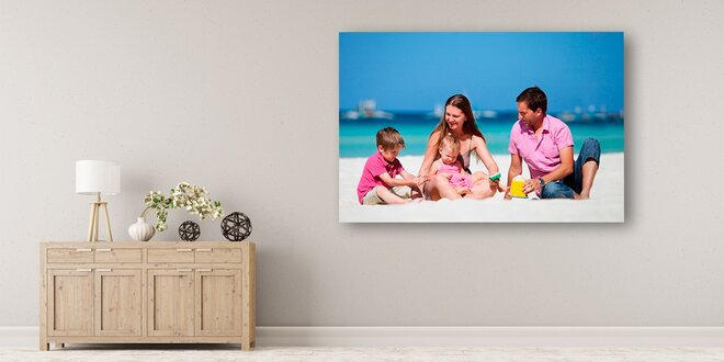 Fotoobraz: malířské plátno na dřevěném rámu