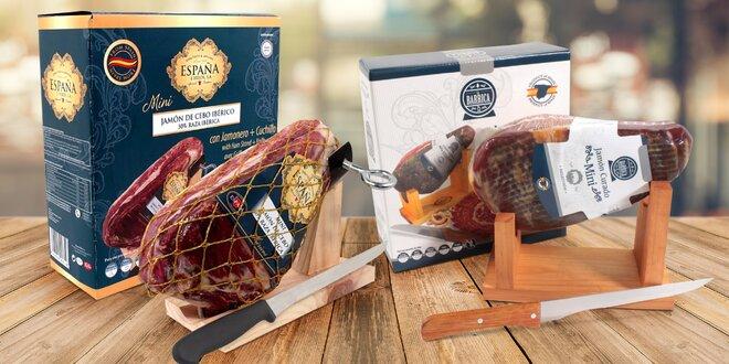 Dárkové balení španělské šunky Mini Jamón či Iberico