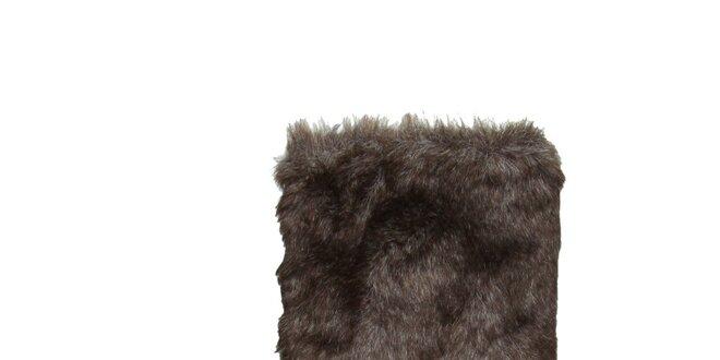 6a749bd8df67 Dámské tmavě hnědé semišové boty s kožíškem Dr. Scholl
