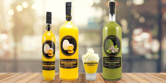Klasické nebo pistáciové Bombardino se skleničkami