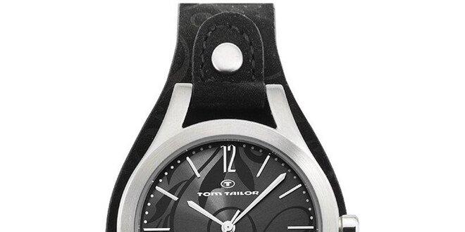 Dámské hodinky Tom Tailor s černým koženým páskem