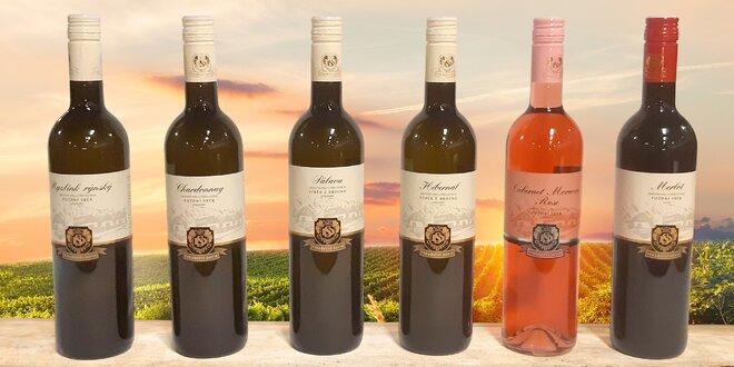 6 vín z Vinařství Soviš: polosladká i suchá