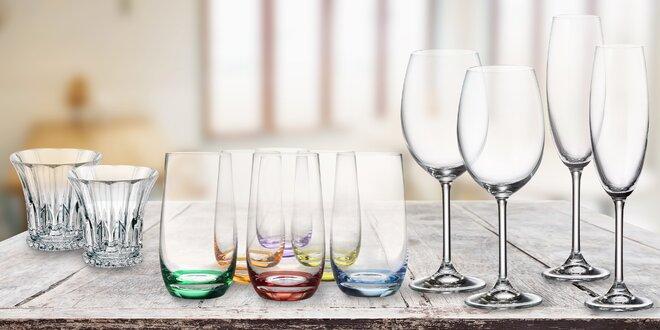 Československé křišťálové sklo na vodu i alkohol