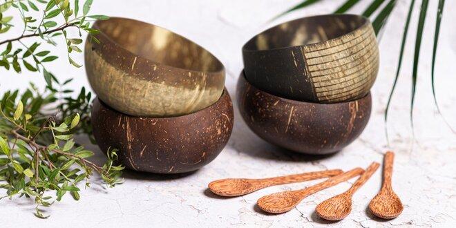 Přírodní kokosové misky i brčka z Vietnamu