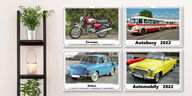 Kalendáře na rok 2022 s obrázky historických strojů