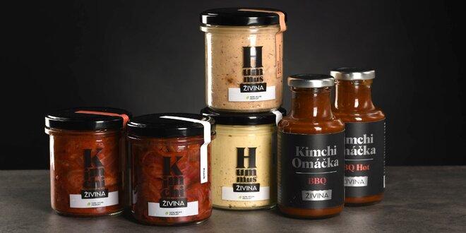 Balíčky dobrot od Živiny: kimchi, hummus, omáčky