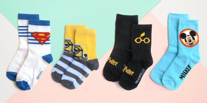 Chlapecké ponožky: Spider-Man i Star Wars
