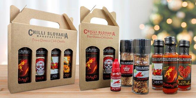 Přírodní chilli omáčky i pikantní sety ze Slovenska