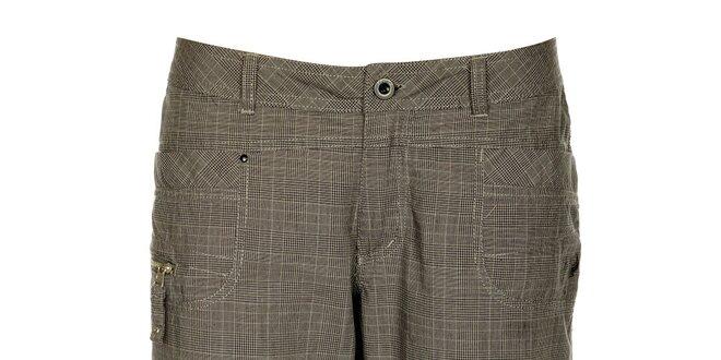 Dámské šedé kostkované capri kalhoty Loap