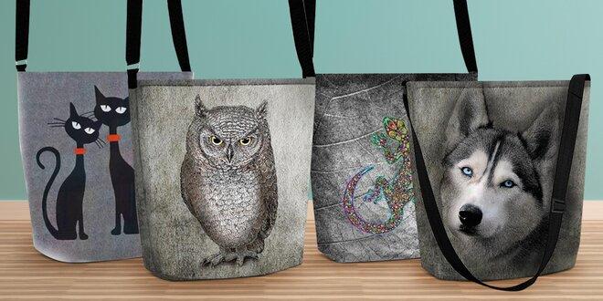 Ekologické kabelky přes rameno s veselými vzory