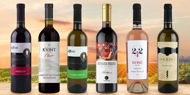 Sety moldavských vín po 3 i 6 lahvích