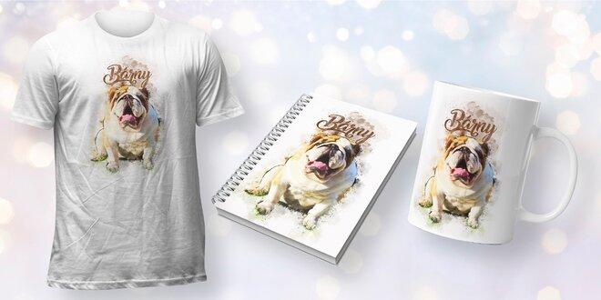 Fotodárky s mazlíčky: hrnky, trička a zápisníky