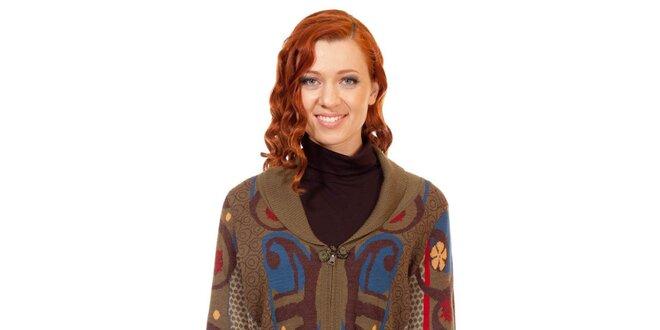 Dámský hnědý úpletový kabát Rosalita McGee  f799905b48a