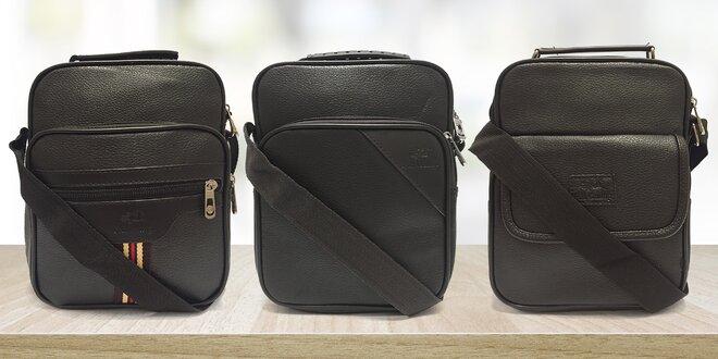 Elegantní pánské crossbody tašky: textil či eko kůže