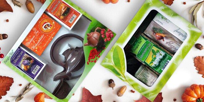 Krásná dárková balení sáčkových i sypaných čajů