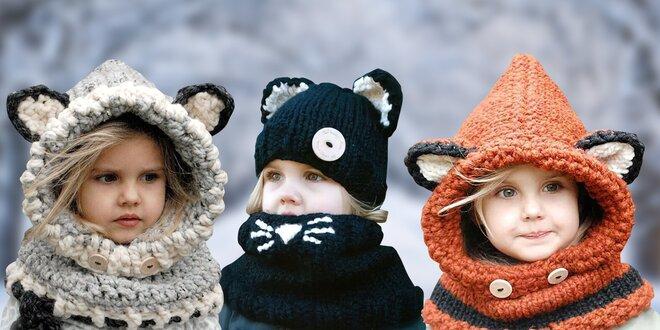 Zvířátkové čepičky: liška i kočka