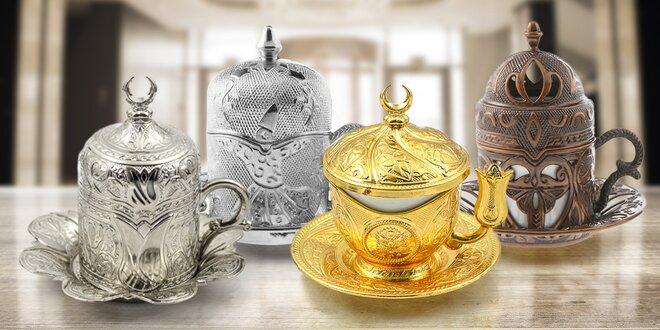 Orientálně zdobené hrnečky na tureckou kávu