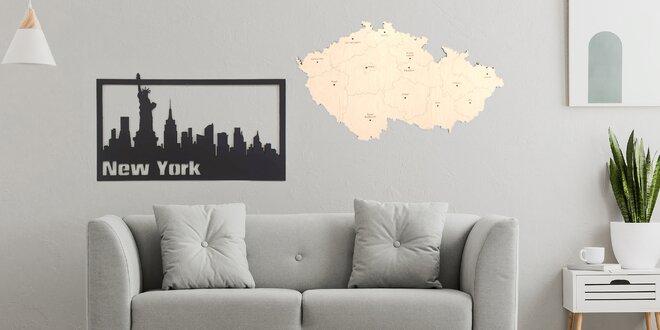 Originální dekorace: dřevěné mapy nebo siluety měst