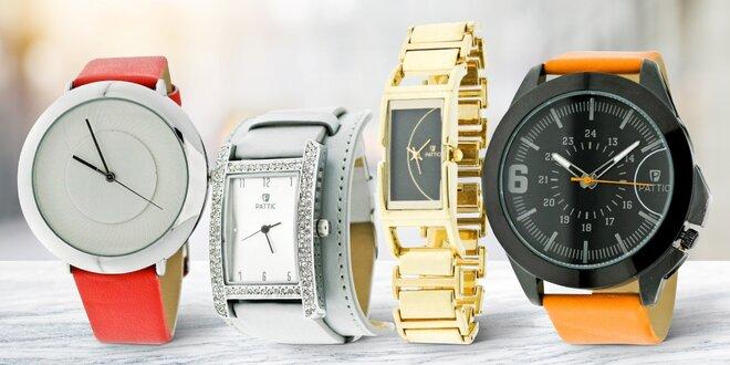 Pánské a dámské ručičkové hodinky Pattic