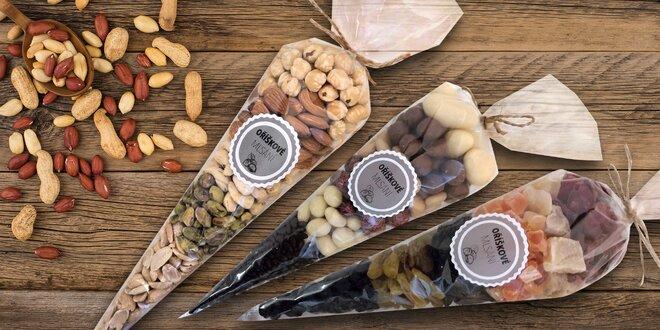 Kornouty plné oříšků nebo i sušeného ovoce