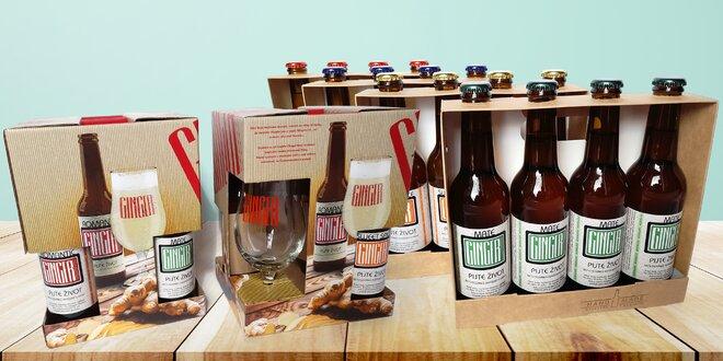 Boxy zázvorových piv na ochutnání či jako dárek