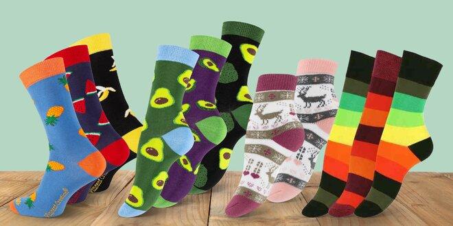3 nebo 5 párů dámských ponožek v několika vzorech